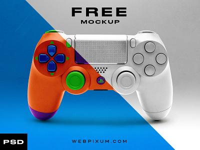 Free PS Controller Mockup photoshop design e-sports template mockup concept branding sports