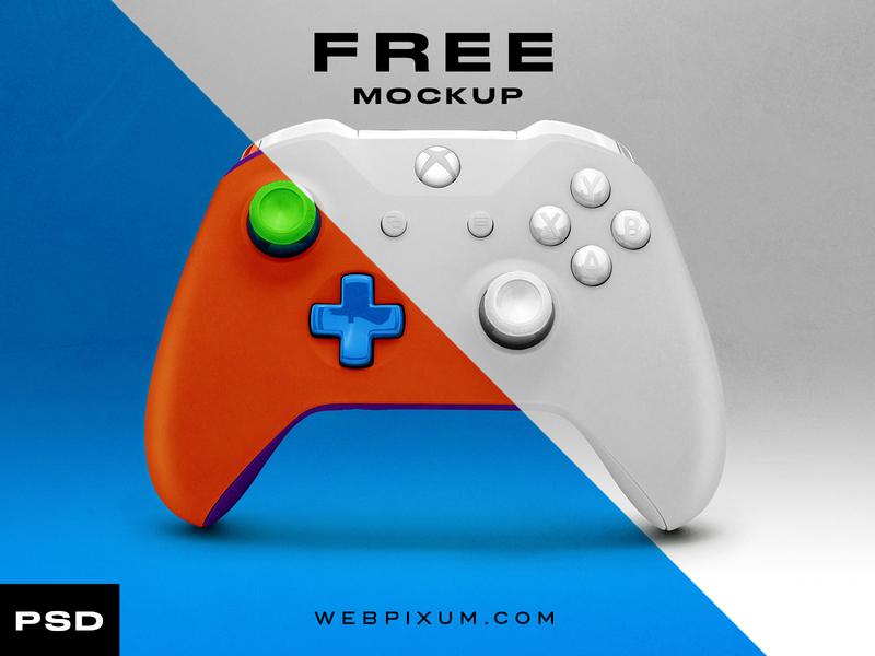 Free Xbox Controller Mockup e-sports photoshop template mockup concept branding sports