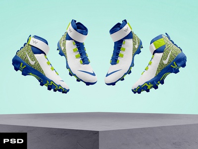 2.0 Football Cleat Mockup