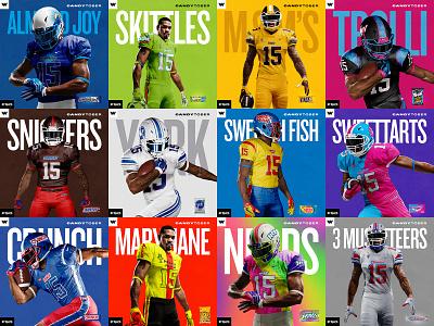#CandyTober 2019 candy uniform halloween candytober design nfl mockup concept branding football sports