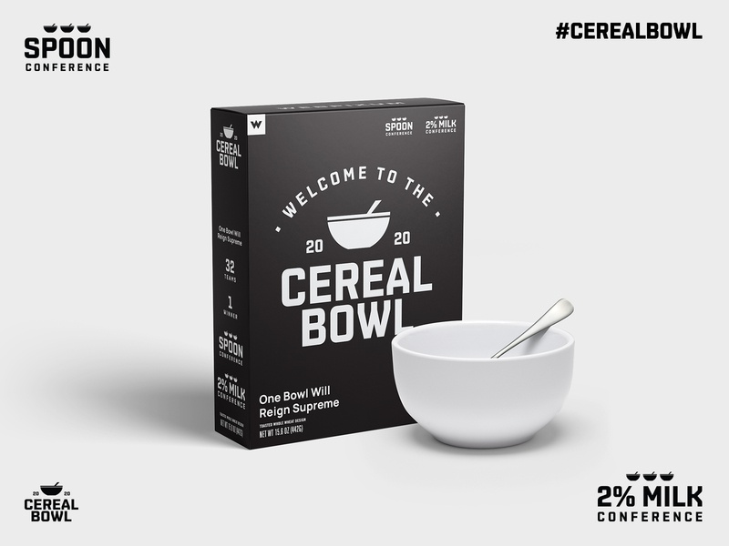 2020 Cereal Bowl milk cereal design studio designer cereal bowl logo helmet football