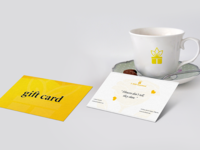 Cup and Gift Card Mockup