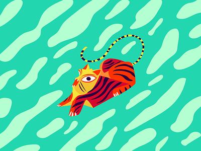 Tiger Alebrije adobeillustrator mexico alebrije illustration tiger