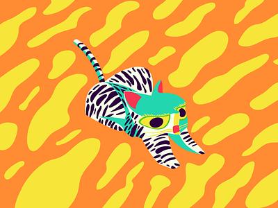 Tiger Alebrije mexico illustration adobe illustration alebrije tiger