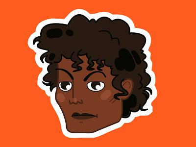 Michael Jackson character design vector illustration characterdesign micharl jackson 70s singers