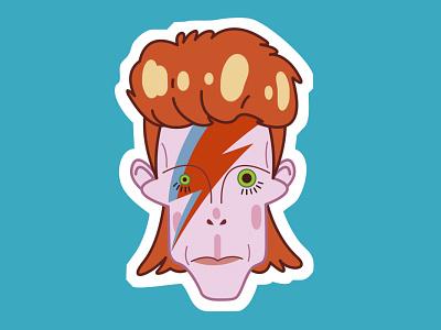David Bowie character design illustration vector 70s singers david bowie