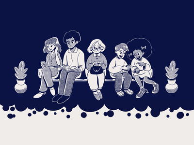 Waiting Room dentist procreate characterdesign illustraion