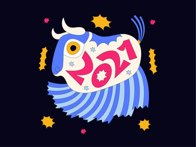Chinese New Year lunar new year new year sticker bull