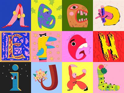 36 Days of Type 2021 alphabet stickers leterring 36daysoftype