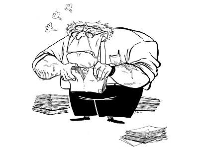 Short I Bureaucrat I Pissed off inktober illustration characterdesign