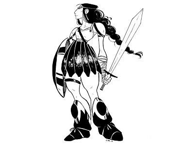 Strong I Amazon I Proud inktober illustration characterdesign