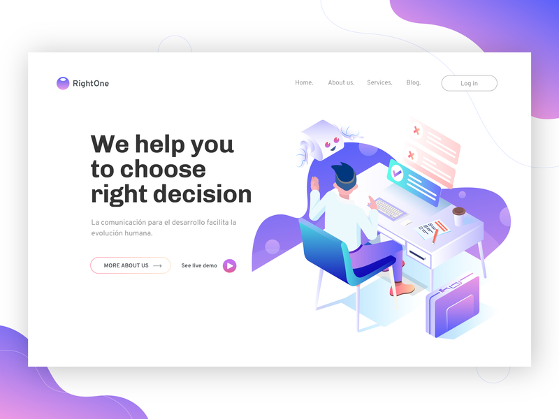 Artificial Intelligence Help Human Make Right Decisions hero illustration landing page isometric illustration artificial intelligence
