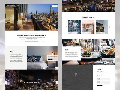 Minimalist Hotel Single-Page Website Template
