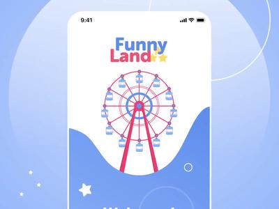 Amusement Park app - navigation flow animation