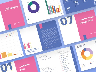 State of Microservices 2020 report dtp typography brand clean illustration geometrical blue ui microservices geometric minimalist