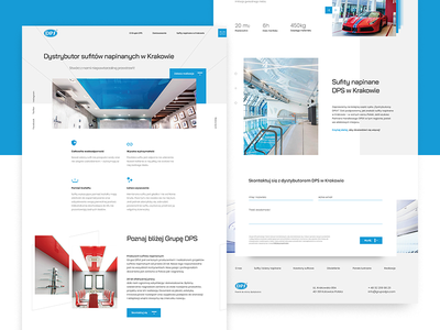 DPS lading page ux landing page blue ui webdesign