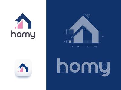 homy logo - construction