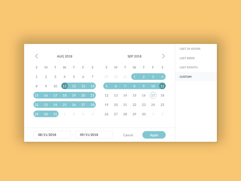 Date Range Picker date range date selector date picker date