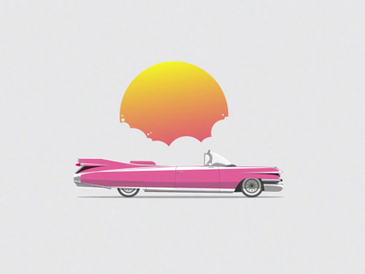 Cadillac Eldorado Biarritz biarritz cadillac caddy kingdomofsomething illustrator animation 2d loop illustration animation