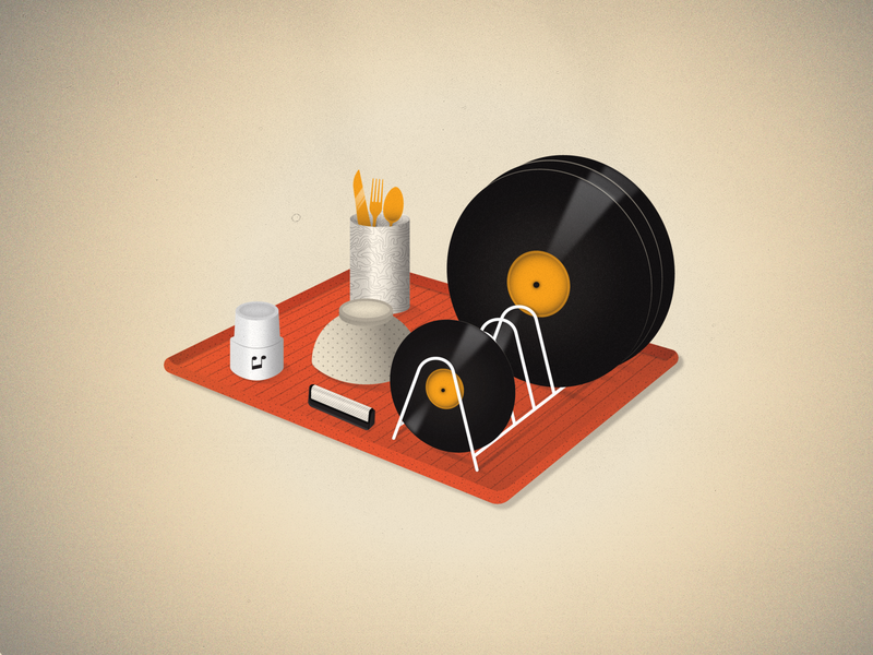Keep your vinyls clean illustrator design music lp vinyl 2d illustration