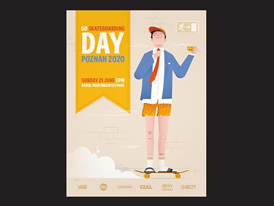 Skateboarding Day 2020 illustrator skate skateboarding skateboarder posterdesign poster illustration