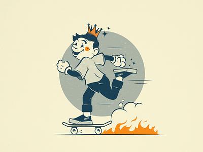 Skateboy cartoon boy skater skate skateboarding illustrator illustration