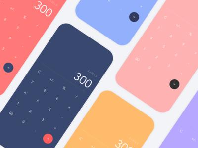 Daily UI - Colourful calculators