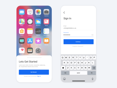 Daily UI - App download and Sign in