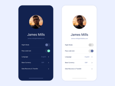 Profile UI/Colour Exploration