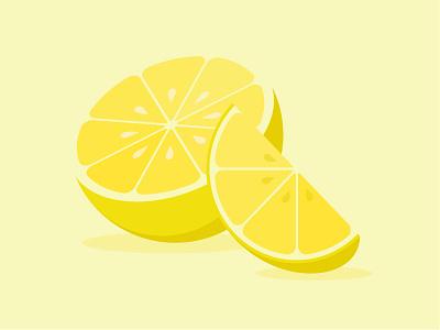 Lemon stylized seeds yellow colorful simple modern illustration vector minimal flat fruit lemon