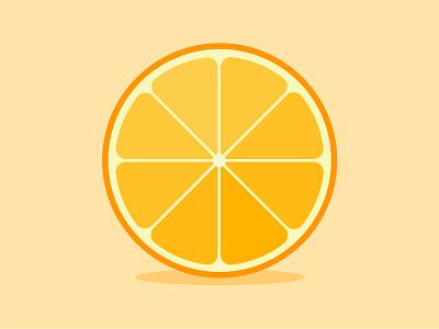 Orange cocktail zest illustration modern flat fruit orange