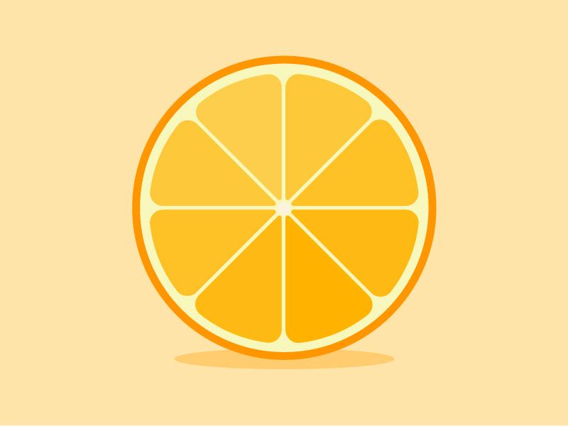 Orange dribbble