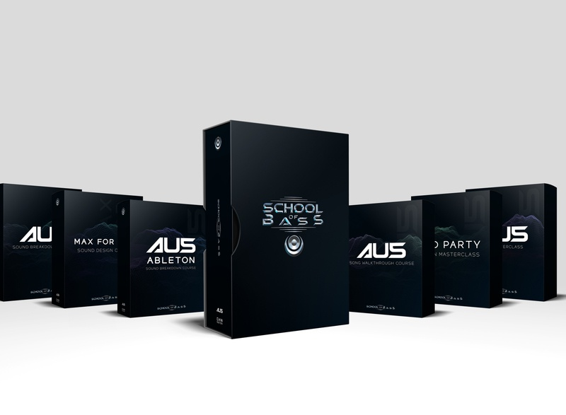 School of Bass Packaging 3d art packaging mockup photoshop branding 3d design
