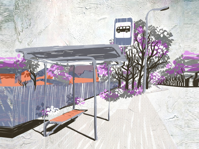 station prospect lilac purple texture color drawing