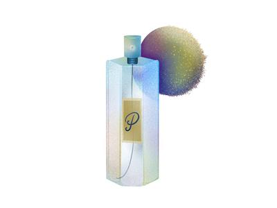 """P"" is for Puff Perfume noise illustration design art ipadprocreate procreate elena-greta typography 36 days of type type puff perfume p"