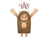 """Y"" is for Yay happy Yeti"