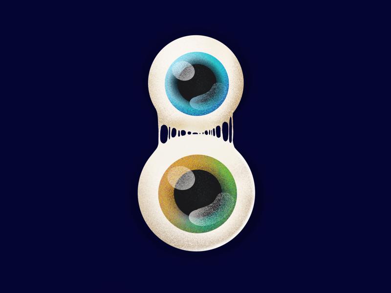Eight times better sight elena-greta digital art ipad pro art ipad pro procreate illustration design art green blue sight look 36 days of type 8 eight eyes