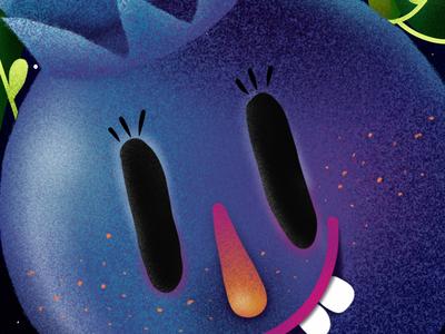 Blueberry King elena greta apostol procreate illustration children book character king blueberry