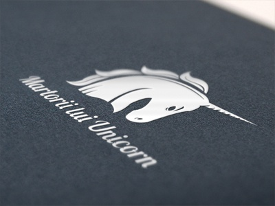 Dribbble 157 unicorn logo branding identity magic inorog black cartboard print iscariotteh elena-greta apostol design art directing martorii lui witness