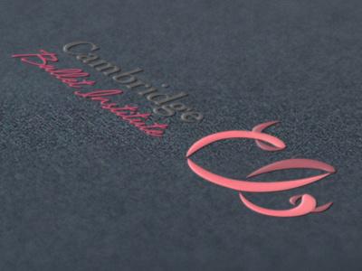 Dribbble 186 logo branding identity white silver mockup cambridge ballet institute ribbon iscariotteh elena-greta apostol pink