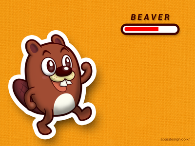 'Jake the Beaver' iOS game character design iphone icon game beaver character illustration dribbble apps design ios 이종원 앱스디자인 아이폰 게임