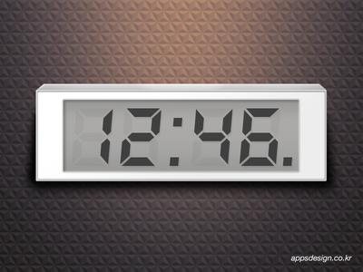 Simple Digital Clock for iPhone App