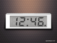 Simple Digital Clock for iPhone App