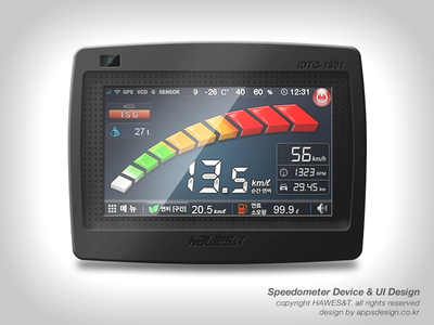 Speedometer Device & UI Design
