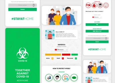 Together against COVID19 webdesign ios application design application appdesign uiux covid-19 covid19 covid coronavirus corona vector app minimal clean flat ux ui