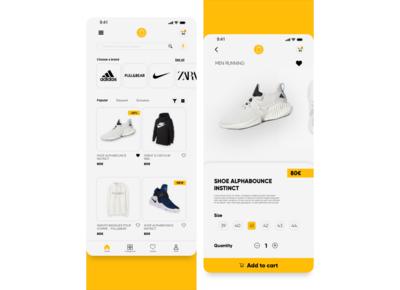 Shopping app concept shopping app shopping ux ui mobileapp mobile minimal ios interface fireart design clean app