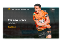 RSB football Store Landing Page
