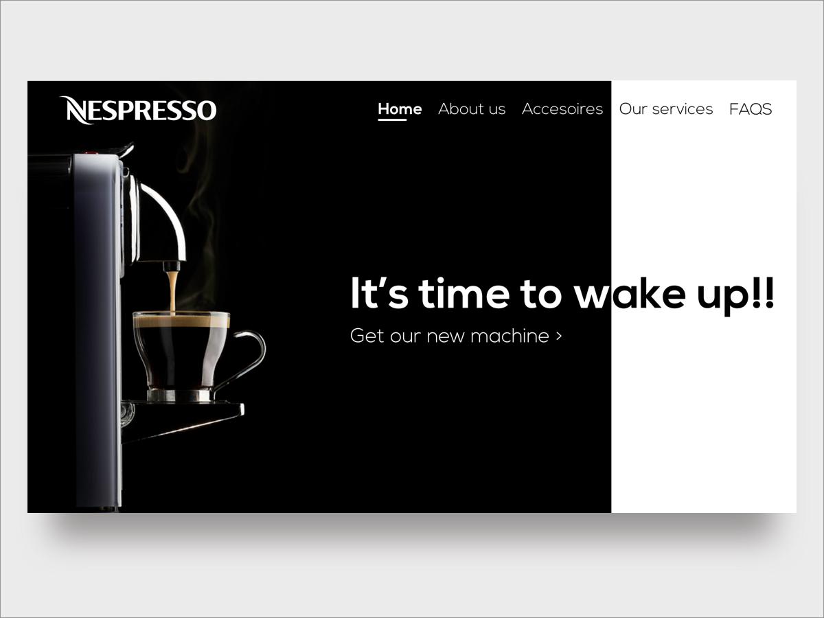 Nespresso's Landing page mobile website landing landing page design landing page concept landing design redesign branding web flat minimal ux ui design clean