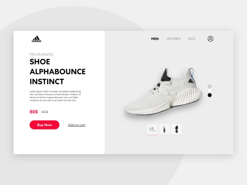 Shoes Store e-shop ecommerce shopping shop store sneakers sneaker shoe website redesign clean minimal design web ux ui adidas originals adidas