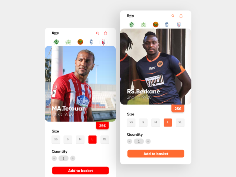 jersey store application kit jersey nike adidas ios design clean app mobile flat ux ui
